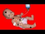 Кукла Ненуко. Доктор Ника лечит игрушку. Укол для Куклы. Видео для детей. Nenuco Doll