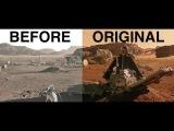 The Martian - Color grading originalbefore