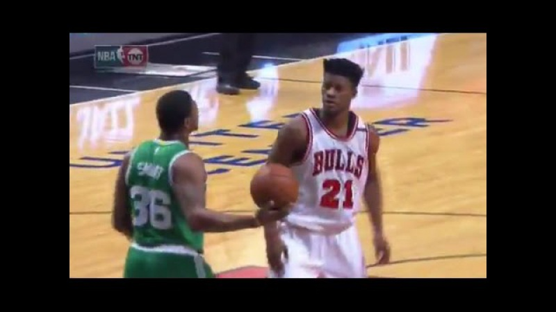 Jimmy Butler and Marcus Smart Getting Chippy