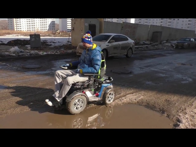 Весенне-зимний тест кресла-коляски с электроприводом С2000