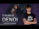 Dota 2 Stream: Na`Vi Dendi playing Dragon Knight (Gameplay & Commentary)