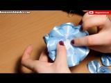 Голубой Цветок Канзаши Пышный бант МК DIY kanzashi tutorial