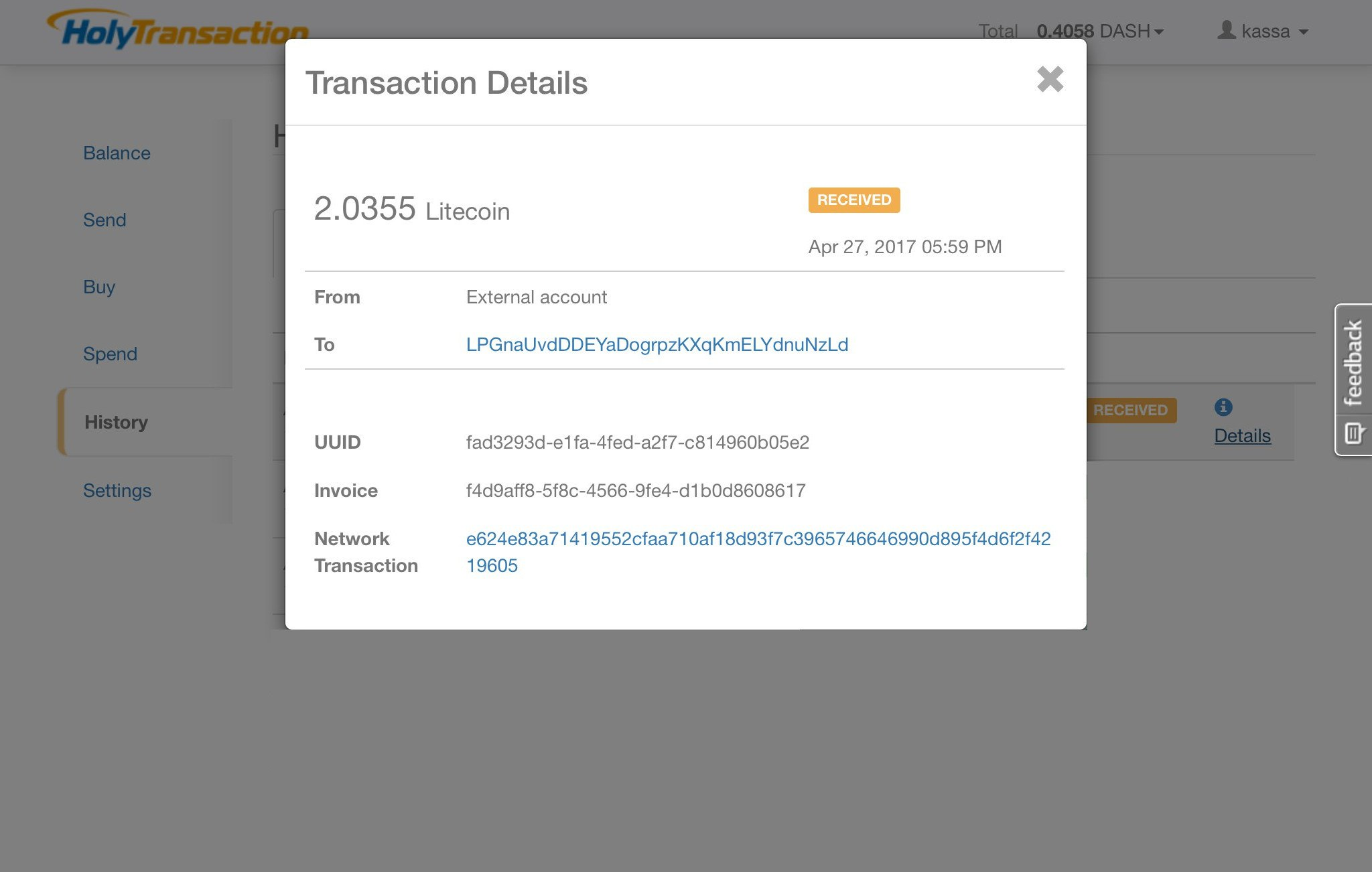 Kassa.cc is a single currency exchange. Exchange Ethereum for Litecoin