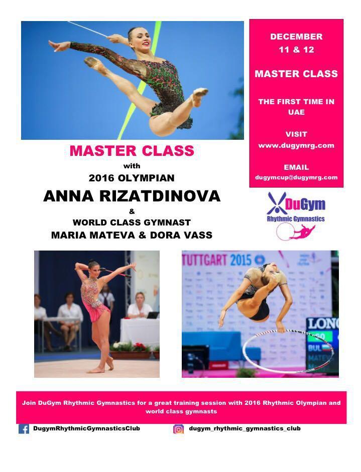1st Dubai International Rhythmic Gymnastics DuGym Cup 2016 09-10.12.2016 & Master Class 11–12.12.2016, UAE, Dubai