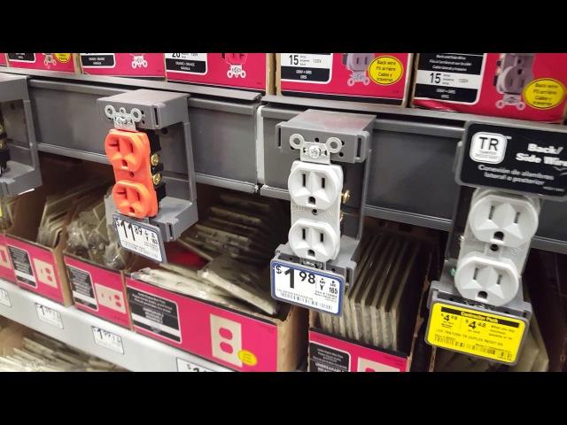 США Электрич выключатели розетки обзор и цены