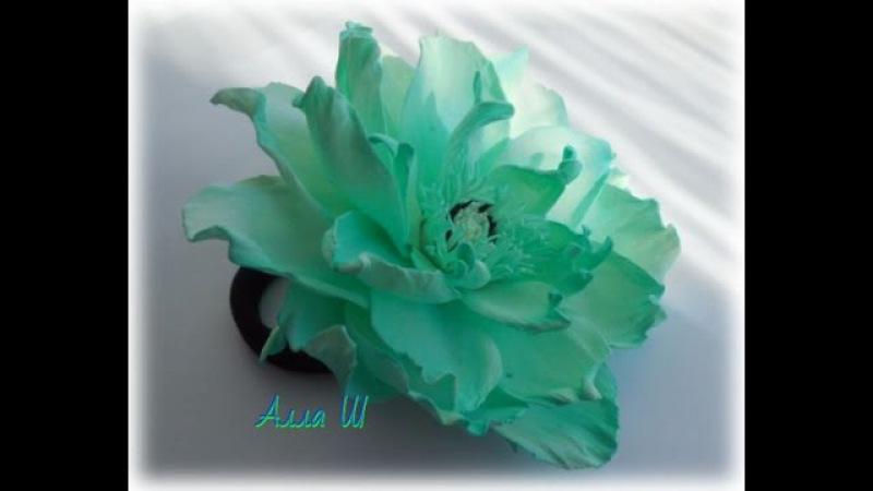 Цветы из фоамирана мастер класс, простой способ создания украшения для волос.