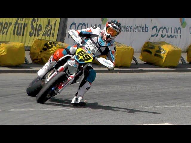 Supermoto Drifts, Jumps Crashes | iDM St. Wendel 2016 SuperMotoRu