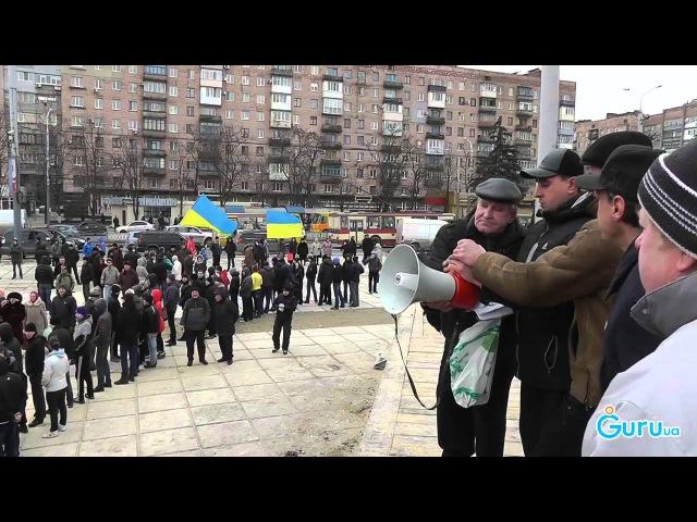 Антифашистский митинг в Мариуполе (23.02.2014)