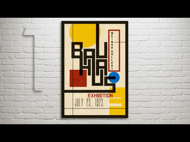 Photoshop Tutorial: Part 1 - How to Design Create a Vintage, Bauhaus Poster (Design 1)