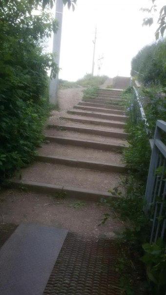 Жительница Бавлов пожаловалась в «Народный контроль» на отсутствие пандуса на тротуаре