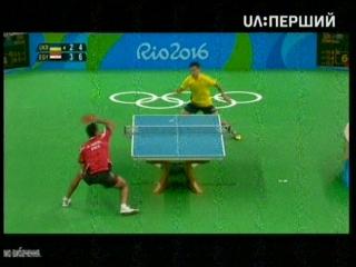 Настольный теннис мужчины.Первая игра нашего Коу Лея на Олимпиаде с египтянином.