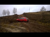 Audi A6 C6 allroad quattro на горке из глиняного киселя.