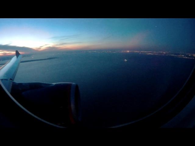 Красивый заход и посадка A330-300 Аэрофлот в Нью-Йорк Джон Кеннеди JFK