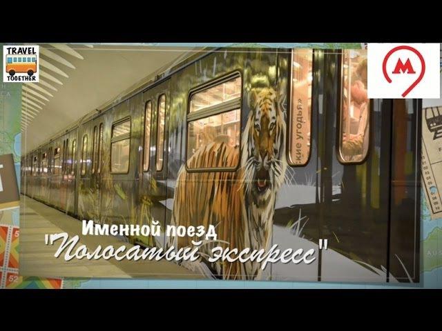 Именной поезд Полосатый экспресс New nominal train in Moscow metro