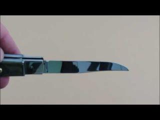 Нож откидной «ЖИГАН» 95Х18, пластик артикул 11143