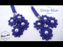 Deep Blue Earrings | Peyote Circular Brick Stitch
