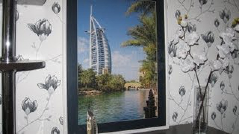Идея для интерьера: картина из пазлов (Burj Al Arab в Дубае)