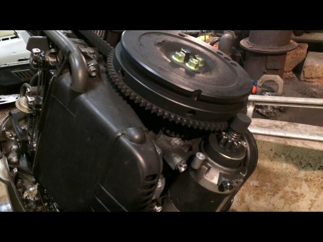 Honda40_50 снятие блока и отсоединение дейдвуда с редуктором