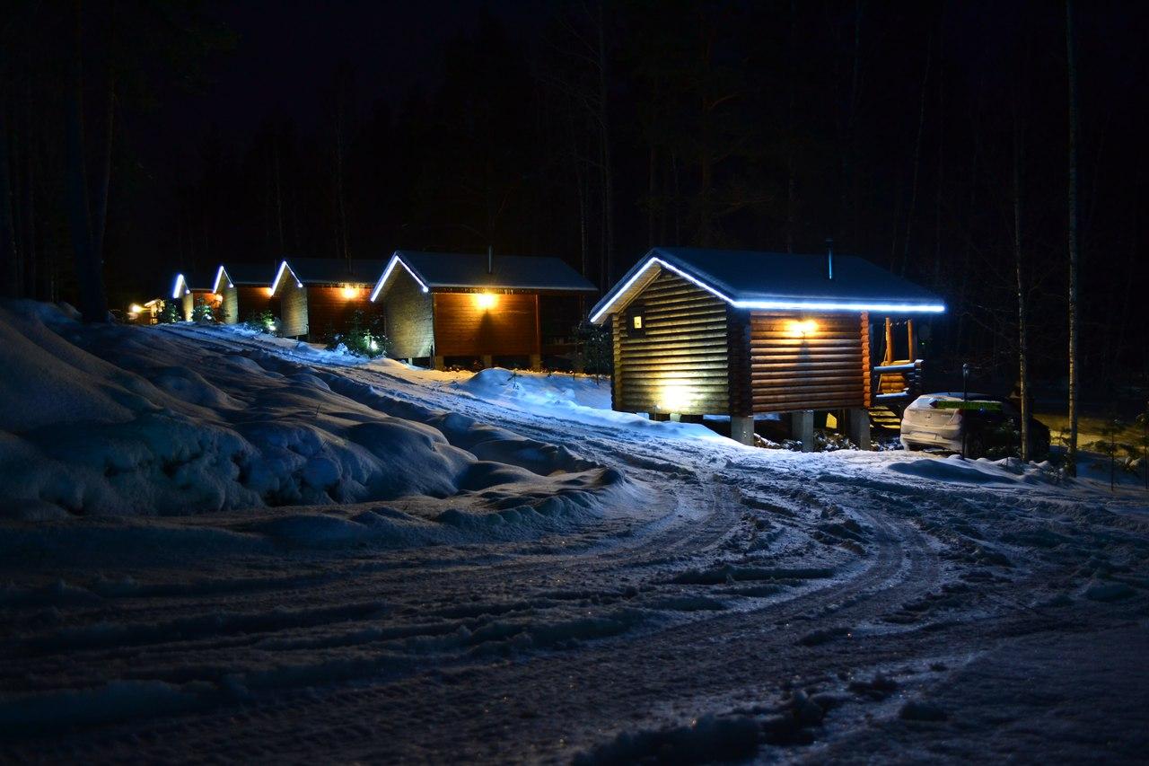 зимние домики на турбазе
