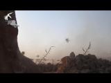 Удар кассетными бомбами в участке прорыва джихадистов на юго-западе Алеппо (31 июля 2016) :