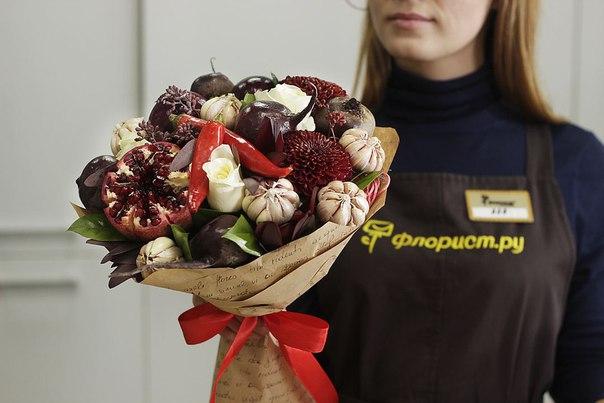 Необычный подарок с цветами 40