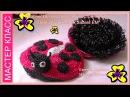 МК Игрушка-мочалка Божья коровка часть 1 из 3/ Master Class Toy -sponge Ladybug Part 1 of 3