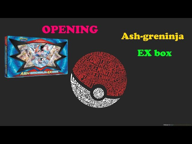 Pokemon TCG. Ash-greninja EX box