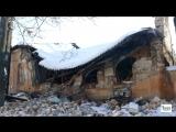По ул. Коцарской, 35 обвалился фасад здания