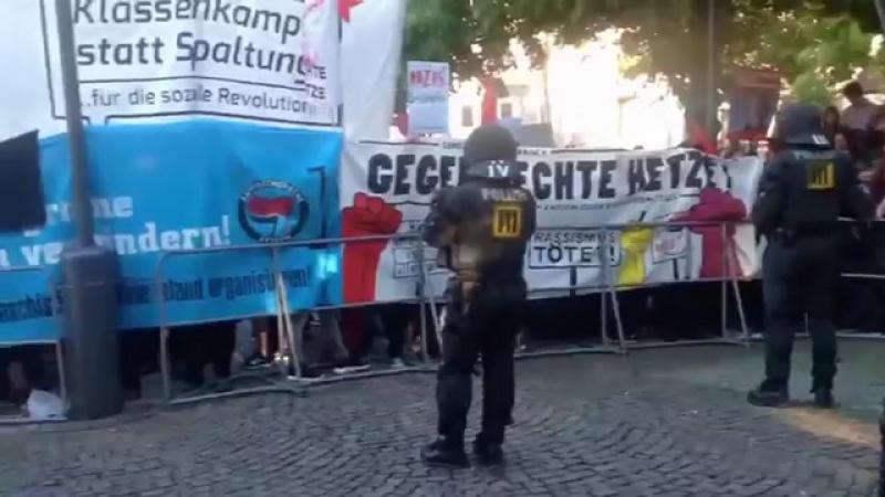 Die Antifa-SA in Fellbach im Einsatz