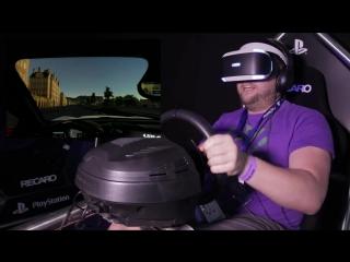 Геймплей Driveclub VR.
