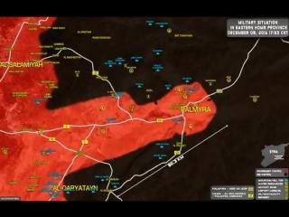 Карта за 8-9 декабря провинции Хомс, р-н г.Пальмира,Сирия