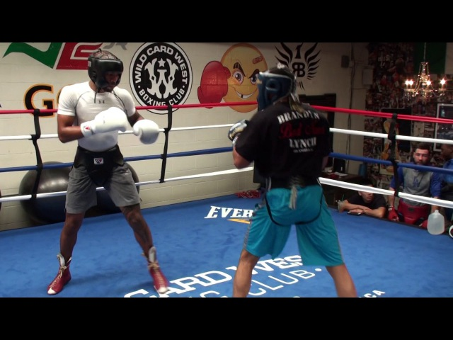 Shane Mosley w/ new trainer TOUGH SPARRING vs Brandyn Lynch