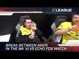 Break between maps in the Na`Vi vs Echo FOX match