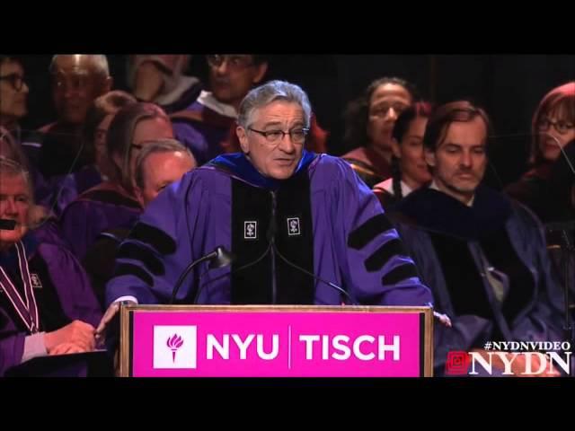 Robert De Niro gives amazing graduation speech to NYU grads