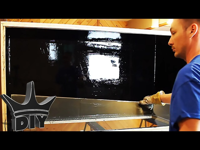 HOW TO: Build a plywood aquarium | Part 3 | Installing glass and brace TUTORIAL