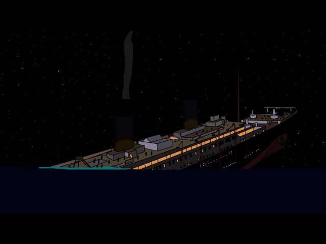 Sinking of the Titanic animation | Крушение Титаника
