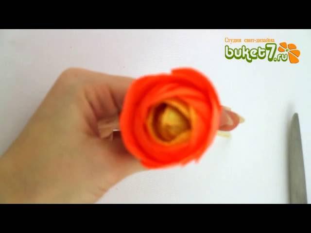 Анна Тюмерова Оформление коробки конфет Аленка Оранжевый цветок Часть 1