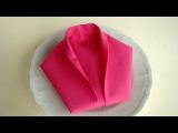 Servietten falten: Sakko - Einfache Anleitung Servietten falten. Hemd zur Hochzeit, Vatertag