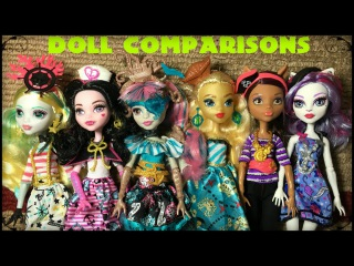 Monster High Shriek Wrecked Dana Treasura Jones Review & Doll Comparisons