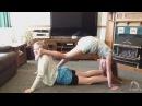 Девочки гимнастки . Йога вызов . - Видео