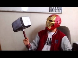 84: Thor Hammer Part 2 - Cardboard Mjölnir DIY - Handle Paint | Costume Prop | How To | Dali DIY