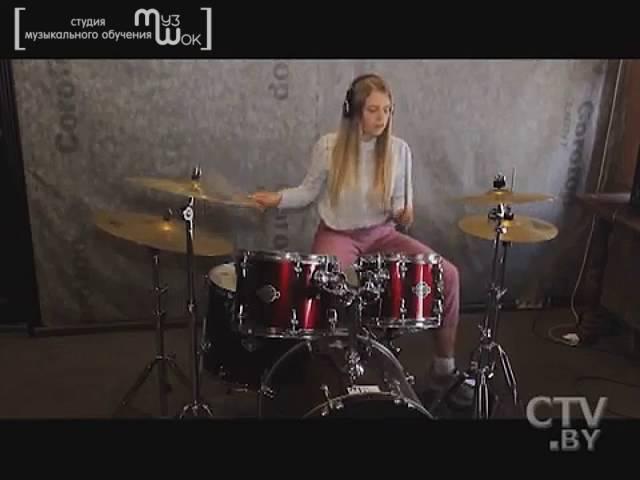Репортаж о девушках барабанщицах МузШока от СТВ МузШок уроки барабанов курсы ударных