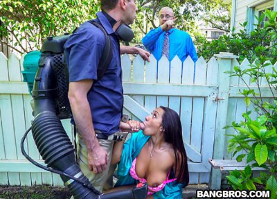 Horny Priya Price Fucks The Gardener