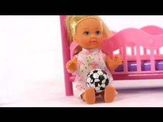 Мультик для девочек! Колыбельная для Принцессы Эви. Куклы для девочек кукольный театр
