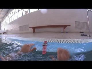 Тренировка со спортивными часами Garmin Fenix в бассейне и на воде.