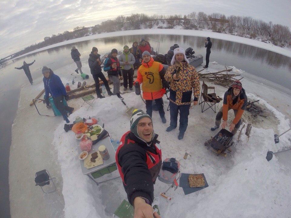 Воронежские экстремалы устроили вечеринку нальдине