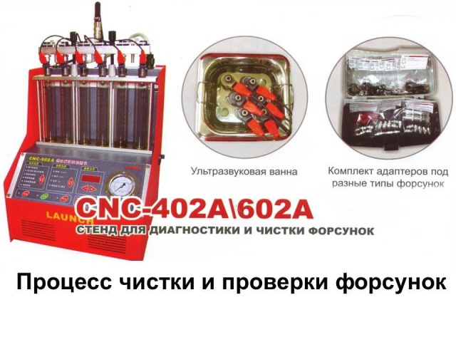 LAUNCH CNC 602A. Процесс чистки и проверки форсунок