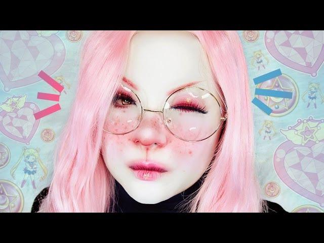 Cute Easy BUNNY MAKEUP Tutorial 白塗りメイク [うさぎ] ~ Shironuri Makeup Tutorial 12