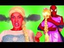 Is Spiderman DATING RAPUNZEL? w/ Frozen Elsa Bad Baby Maleficent Pink Spidergirl Anna! Superhero Fun
