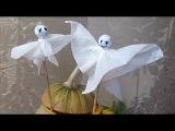 Простые и легкие поделки на Хэллоуин для детей из бумаги Привидения/призраки Поделки своими руками